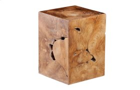 Teak Slice Stool Square