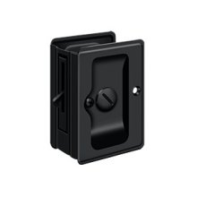 "HD Pocket Lock, Adjustable, 3 1/4""x 2 1/4"" Privacy - Paint Black"