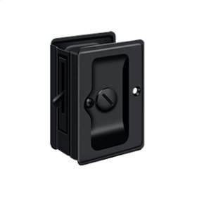 "HD Pocket Lock, Adjustable, 3 1/4""x 2 1/4"" Privacy - Paint Black"