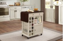 Kitchen Cart with Drop Leaf and Casters