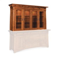 "M Ryan Closed Hutch Top, 81 1/4"", Antique Glass Product Image"