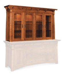 "M Ryan Closed Hutch Top, 81 1/4"", Antique Glass"