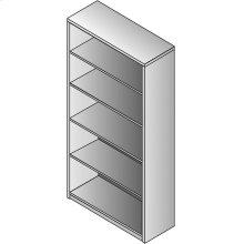 Napa 5-shelf Bookcase, 36x14x65h