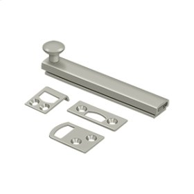"""4"""" Surface Bolt, Concealed Screw, HD - Brushed Nickel"""