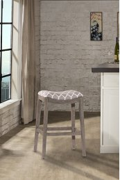 Sorella Non-swivel Backless Counter Stool - Full K/d Construction - Gray