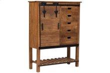 Barn Door SB15-571 Sliding Door Tall Cabinet with 5 Drawer Storage