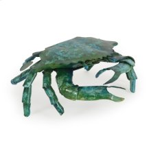 Metal Crab Small Blue Green Finish