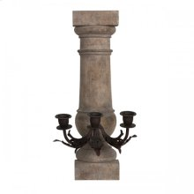 Centre Triple Arm Wall Sconce