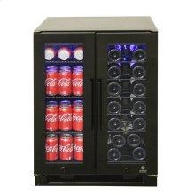 Black Full Glass Wine & Beverage Cooler