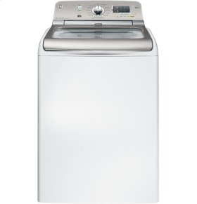 GE® 4.8 DOE cu. ft. stainless steel capacity washer