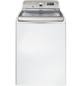 GE® 4.8 DOE cu. ft. stainless steel capacity washer