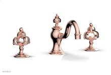 COURONNE Widespread Faucet Cross Handles 163-01 - Polished Copper