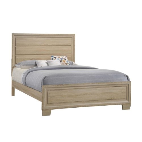 Vernon Transitional Whitewashed Oak Queen Bed