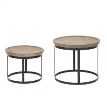 Coffee table S/2 43x35+ 53x45 cm MACHALA wood-black