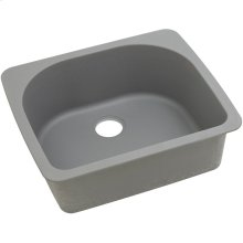 "Elkay Quartz Classic 25"" x 22"" x 8-1/2"", Single Bowl Drop-in Sink, Greystone"