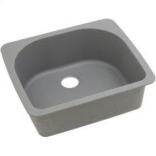 "Elkay Quartz Classic 25"" x 22"" x 8-1/2"", Single Bowl Drop-in Sink, Greystone"