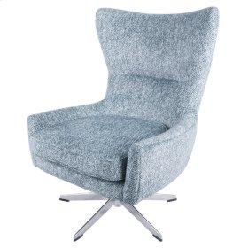 Arya KD Fabric Swivel Chair, Quiver Indigo Blue