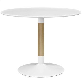 Whirl Round Dining Table in White