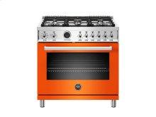 36 inch 6-Burner, Gas Oven Orange