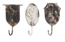 Burns Metal Animal Wall Hooks - Ast 3