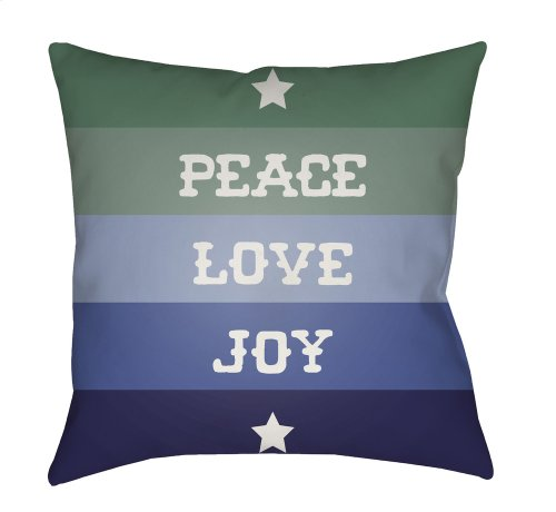 "Peace Love Joy HDY-078 18"" x 18"""