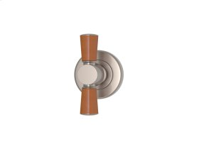 Tube Stitch In Combination Leather In Tan And Satin Nickel