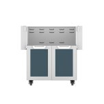 "Hestan30"" Hestan Outdoor Tower Cart with Double Doors - GCD Series - Pacific-fog"