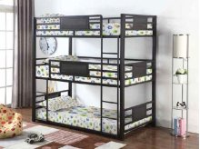 Twin Size Triple Decker Contemporary Bunkbed