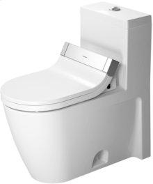 White One-piece Toilet, Water Saving 6-liter Flush