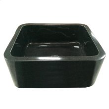 "Acantha Single Bowl Granite Farmer Sink - Polished Black / 36"""