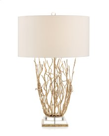 Saplings on Acrylic and Brass Table Lamp