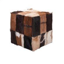 Andros Animal Hide Cube Ottoman
