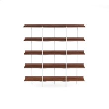 Shelving System 5305 in Toasted Walnut Satin White