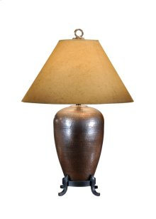 Hammered Copper Lamp