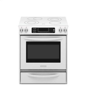KitchenAid30-Inch 4-Element Electric Slide-In Range, Architect® Series II - White