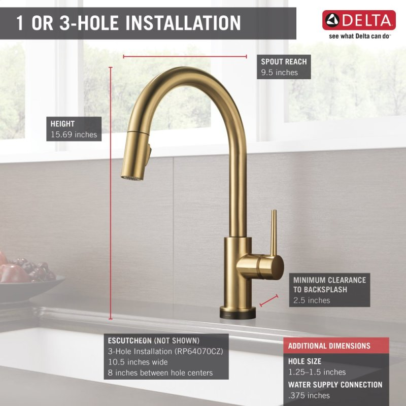 9159TCZDST in Champagne Bronze by Delta Faucet Company in New ...