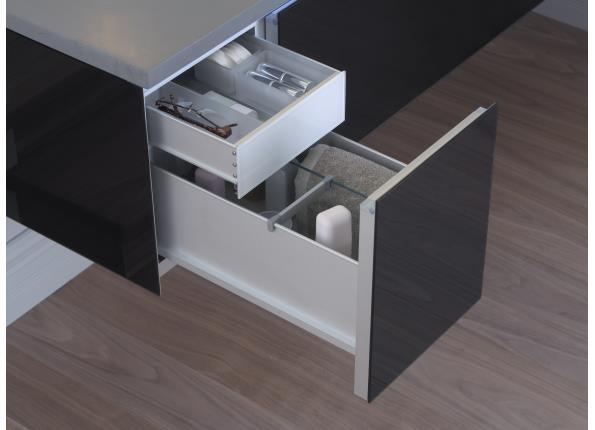 "Vanity Accessory Slim Drawer Insert for use in 12"" drawers"