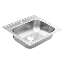 """2000 Series 25""""x22"""" stainless steel 20 gauge single bowl drop in sink"""