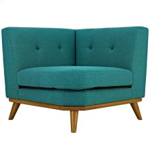 Engage Upholstered Fabric Corner Sofa in Teal