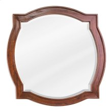 """26"""" x 26"""" Chocolate Brown mirror with beveled glass"""