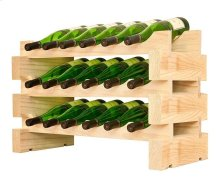 3 x 6 Bottle Modular Wine Rack (Natural)