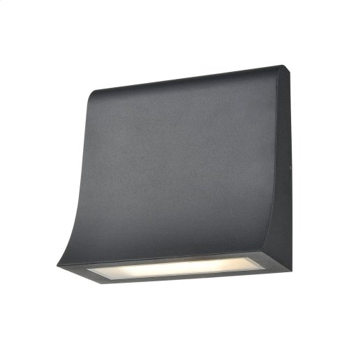 Sabrina 1-Light Sconce in Charcoal