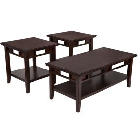 Signature Design by Ashley Logan 3 Piece Occasional Table Set [FSD-TS3-37DB-GG]