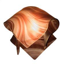 """10"""" Wide Handkerchief Chambord Swirl Shade"""