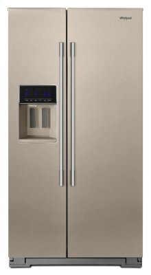 36-inch Wide Contemporary Handle Side-by-Side Refrigerator - 28 cu. ft.