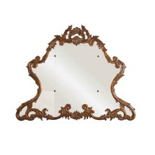 CARVED ACANTHUS LEAF GOLD GILDED MIRROR