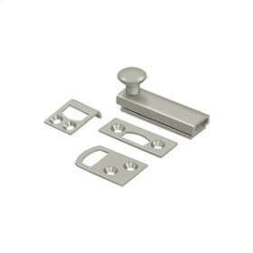 """2"""" Surface Bolt, Concealed Screw, HD - Brushed Nickel"""