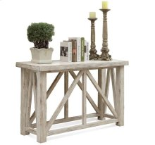 Aberdeen Sofa Table Weathered Worn White finish