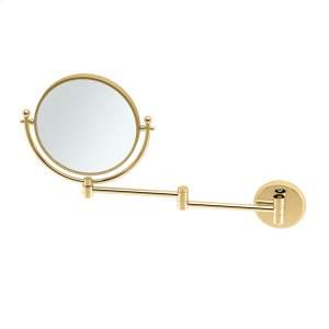 Swing Arm Mirror #2 in Polished Brass Product Image