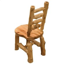 Ladder-back Bistro Side Chair - Natural Cedar - Wood Seat
